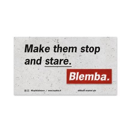 BLEMBA ATTITUDE METAL PIN
